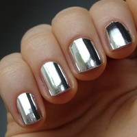 Silver Nail Wrap - Modicure - Manicure Nail Wraps and Nail Foils