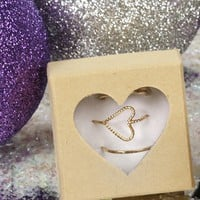 Sale-gold Dainty Heart Ring Set