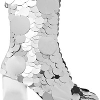 Maison Margiela - Paillette-embellished textured-leather ankle boots
