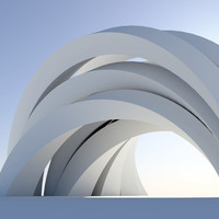 Abstract arch Wall Mural