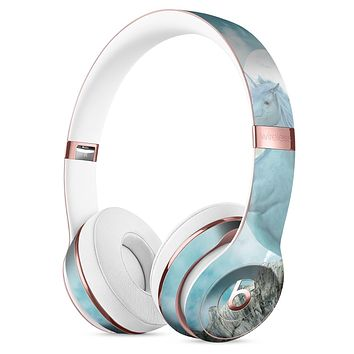 Majestic White Stallion Unicorn Rearing in Triump over Enemies Before the Light of a Full Moon on a Mid Summer's Night Full-Body Skin Kit for the Beats by Dre Solo 3 Wireless Headphones