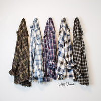 Vintage Mystery Oversized Flannel Shirts