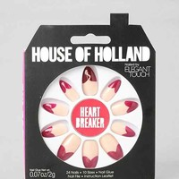 House Of Holland X Elegant Touch Heart Breaker Faux Nail Set- Rose One