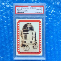 1977 R2-D2 Star Wars Sticker Trading Card! Kenny Baker Rare! New! PSA 8 Near Mint - Mint! Professional Sports Authority Graded Great Gift