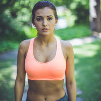 All About It Sport Bra in Peach