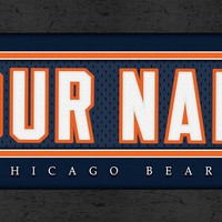 Chicago Bears | Jersey Stitch | Personalized | Nameplate Print | Framed | NFL