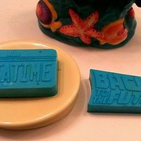 Back To The Future Time Machine License Plate Soap Bar Set Premium Blend