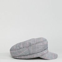 Stradivarius Check Baker Boy Hat at asos.com