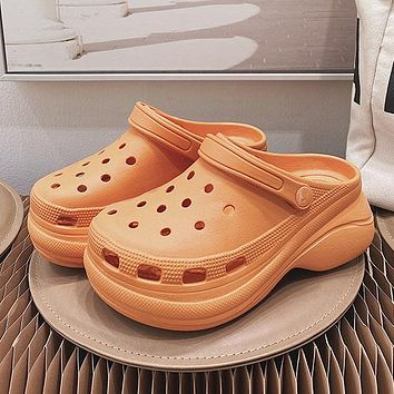 New beach hole shoes high heel sandals and slippers