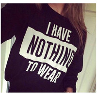 I Have Nothing To Wear Black