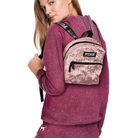 Mini Velvet Campus Backpack - PINK - Victoria's Secret