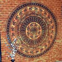 Indian Hippie Mandala Round Elephant Tapestry Queen Wall Hanging Cotton Bedspread Throw Table Cloth Decor
