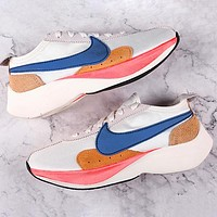 Nike Moon Racer Qs Lunar Eclipse Forrest Marathon breathable mesh cushioning running shoes super elastic cushioning outsole Shoes Yellow White