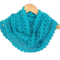 Turquoise Infinity Scarf - Circle Scarf - Women Accessories - Gift ideas