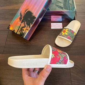 GUCCI Fashionable casual printed slippers