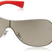 Authentic RAY-BAN Matte Silver Shield Sunglasses RB 3471 - 019/5A *NEW*