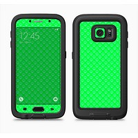 The Subtle Green Paw Prints Full Body Samsung Galaxy S6 LifeProof Fre Case Skin Kit