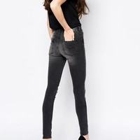 Monki Slash Knee Rise Jean