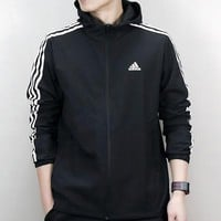 Boys & Men Adidas Cardigan Jacket Coat Hoodie Windbreaker