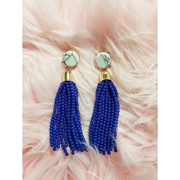 JENIFER - Beaded Tassel Drops