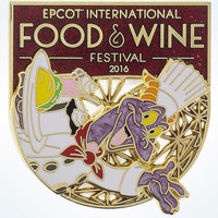 Disney Parks Epcot Food & Wine 2016 Festival Chef Figment Pin New with Card