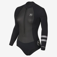 The Hurley Fusion 202 Front Zip Women's Spring Suit.