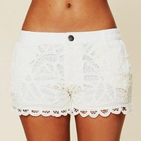 Free People Battenburg Lace Shorts