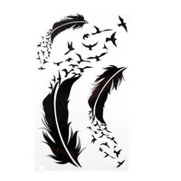 Feather Unisex  Removable Waterproof Temporary Tattoo Body Art Stickers FINe