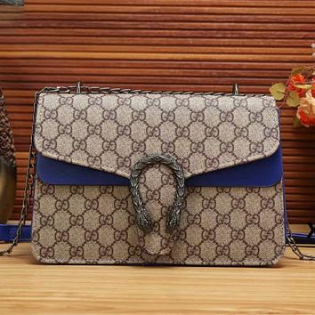 Dior GG Classic GG letter print double-headed snake logo Fashion ladies shoulder messenger bag