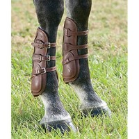 Dover Premier Leather Open Front Horse Boots with Buckle Closure | Dover Saddlery