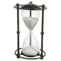 One Kings Lane - Chic Boutique - Hourglass w/ Stand, White