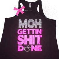 Maid Of Honor Tank - Ruffles with Love - Sweating for the Wedding - Wedding Tank