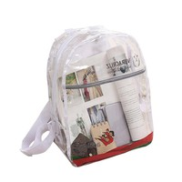 PVC Transparent Backpack Girl's Women's Waterproof Clear Summer Beach Shoulder Pouch Shcool Bags Accessories Supplies Products