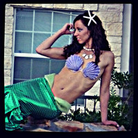 Sale TWO DAYS LEFT to buy: Ariel The Little Mermaid Shell Bra Top Halloween Costume
