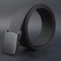 Newly Design Men Women Wide Canvas Wasit Belt with Plastic Automatic Buckle Aug7