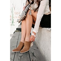Can't Move On Booties (Camel)