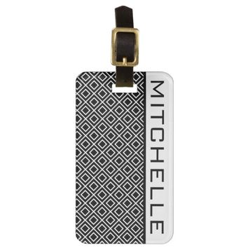 Double Diamond BW Bag Tag