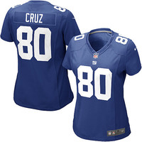 Women's Nike New York Giants Victor Cruz Game Team Color Jersey