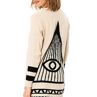 The All Seeing Cardigan in Ivory