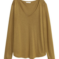V-neck Jersey Top - from H&M