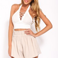 Say Anything Shorts Beige