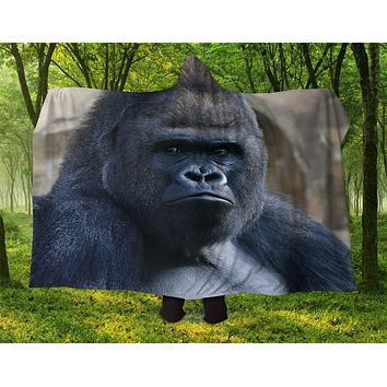 Gorilla Hooded Blanket
