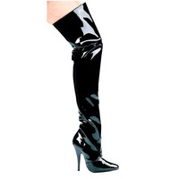 """Ellie Shoes E-Susie 5"""" Heel Thigh High Boots"""