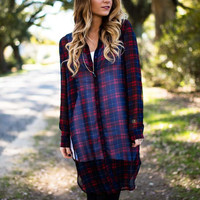 The Latest and Greatest Sheer Plaid Tunic