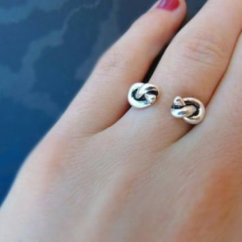 Sterling Silver Open Knot Ring