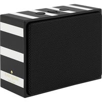 kate spade new york - Portable Bluetooth Speaker - Black/Cream Stripe