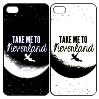 take me to neverland Samsung Galaxy S3 S4 S5 S6 Edge Note 3 4 , iPhone 4 4S 5 5s 5c 6 Plus , iPod Touch 4 5 , HTC One M7 M8 M9 ,LG G2 G3 Couple Case