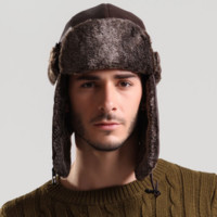 Aviator Trooper Style Warm Fur Hat for Winter