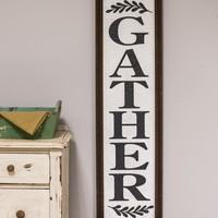 Basket-Weave Textured Framed Gather Sign