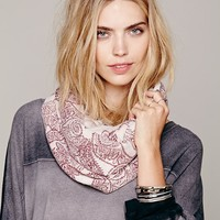 Free People Paisley Printed Loop Scarf